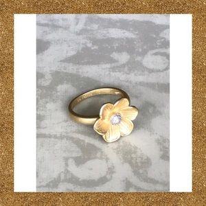 Lia Sophia Flower Ring Size 10